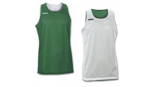 TRICOU REVERSIBIL  ARO GREEN-WHITE SLEEVELESS