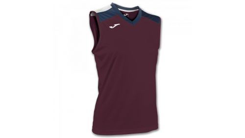ALOE VOLLEY SHIRT BURGUNDY-NAVY SLEEVELESS W.