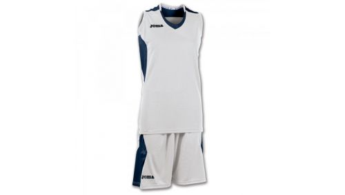 SET BASKET SPACE WHITE-NAVY SLEEVELESS W.