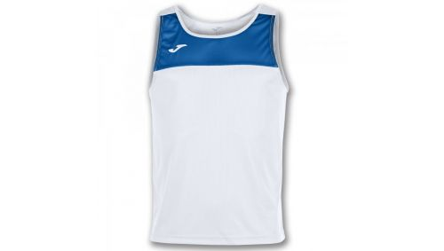 TRICOU RACE WHITE-ROYAL SLEEVELESS