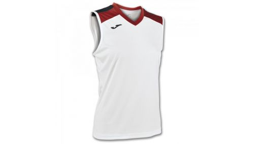 ALOE VOLLEY SHIRT WHITE-RED SLEEVELESS W.