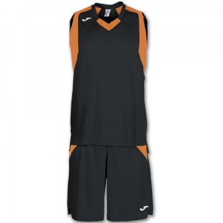 SET FINAL BLACK-ORANGE SLEEVELESS