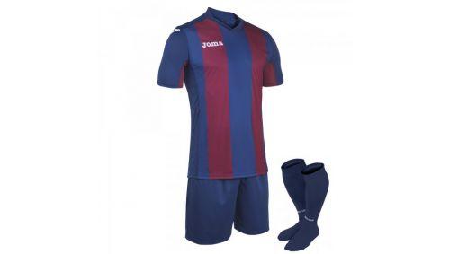 SET PISA BLUE-BURGUNDY T-SHIRT S/S+SHORT+SOCKS