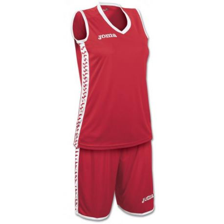 SET PIVOT WOMAN RED JERSEY+SHORTS