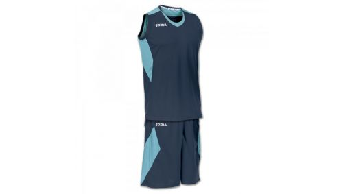 SET SPACE NAVY-TURQUOISE SLEEVELESS