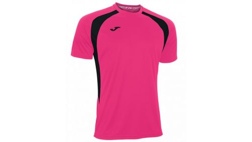 TRICOU CHAMPION III PINK FLUOR-BLACK S/S