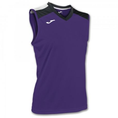 ALOE VOLLEY SHIRT PURPLE-BLACK SLEEVELESS W.