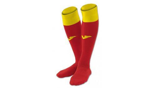 FOOTBALL SOCKS CALCIO 24 RED-YELLOW -PACK 4-