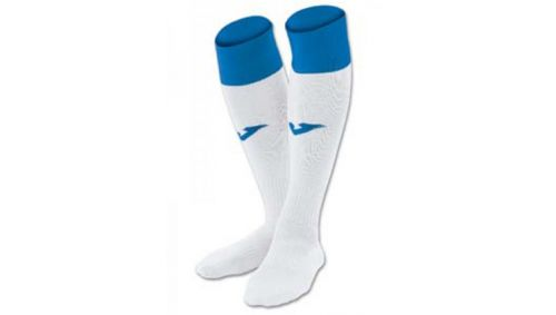 FOOTBALL SOCKS CALCIO 24 WHITE-ROYAL -PACK 4-