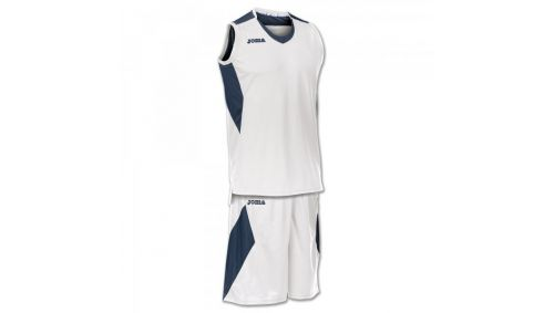 SET SPACE WHITE-NAVY SLEEVELESS