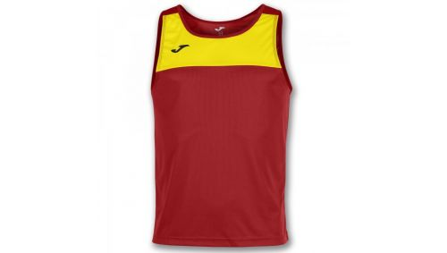 TRICOU RACE RED-YELLOW SLEEVELESS