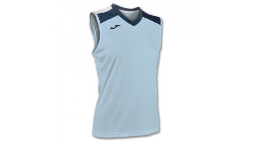 ALOE VOLLEY SHIRT SKY BLUE-NAVY SLEEVELESS W.