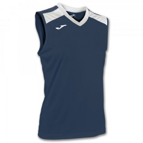 ALOE VOLLEY SHIRT NAVY-WHITE SLEEVELESS W.