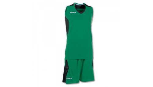 SET BASKET SPACE GREEN-BLACK SLEEVELESS W.
