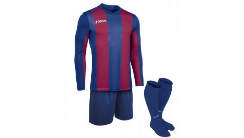 SET PISA BLUE-BURGUNDY T-SHIRT L/S+SHORT+SOCKS