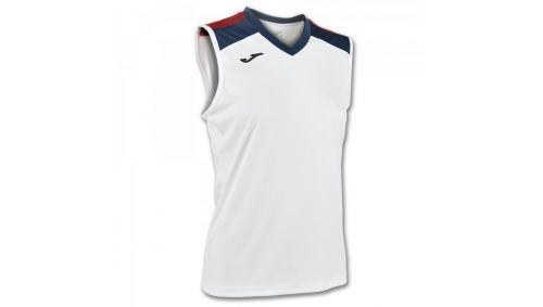 ALOE VOLLEY SHIRT WHITE-NAVY SLEEVELESS W.