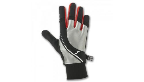 REFLECTIVE RUNNING GLOVES BLACK-RED
