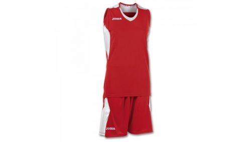 SET BASKET SPACE RED-WHITE SLEEVELESS W.