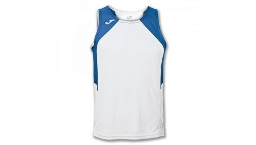 TRICOU RECORD WHITE-ROYAL SLEEVELESS