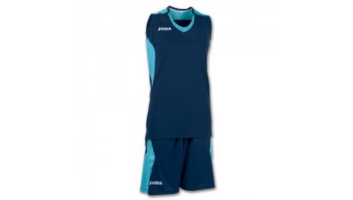 SET BASKET SPACE NAVY-TURQUOISE SLEEVELESS W.