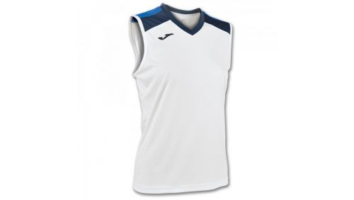 ALOE VOLLEY SHIRT WHITE-ROYAL SLEEVELESS W.