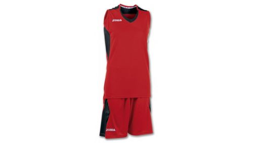 SET BASKET SPACE RED-BLACK SLEEVELESS W.