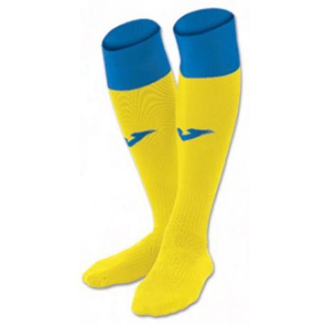 FOOTBALL SOCKS CALCIO 24 YELLOW-ROYAL -PACK 4-