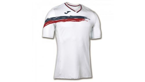 TRICOU TENIS PICASHO WHITE-RED S/S