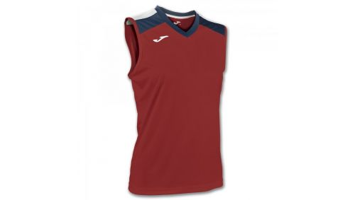 ALOE VOLLEY SHIRT RED-NAVY SLEEVELESS W.