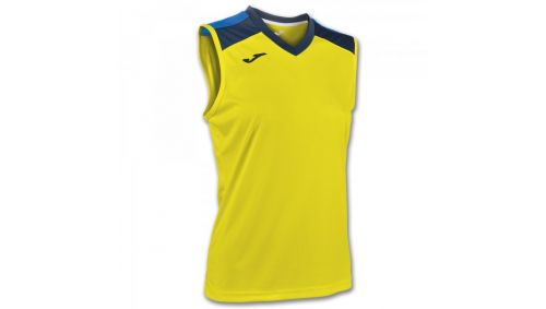 ALOE VOLLEY SHIRT YELLOW-NAVY SLEEVELESS W.