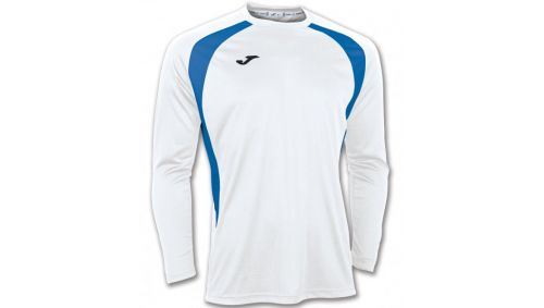 TRICOU CHAMPION III WHITE-ROYAL L/S