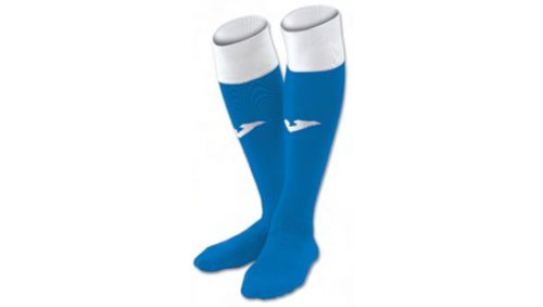 FOOTBALL SOCKS CALCIO 24 ROYAL-WHITE -PACK 4-
