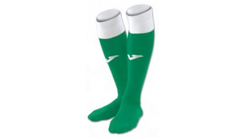 FOOTBALL SOCKS CALCIO 24 GREEN-WHITE  -PACK 4-