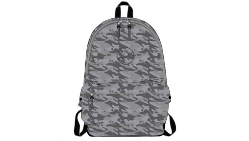 BACKPACK CAMOUFLAGE GREY -BACK TO SCHOOL-