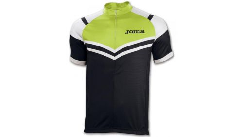TRICOU CYCLING BLACK-GREEN FLUOR