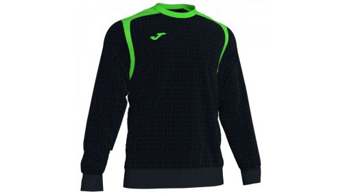 Swheatshirt CHAMPION V BLACK-FLUOR GREEN