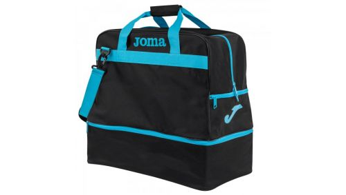 BAG TRAINING III BLACK-FLUOR TURQUOISE -LARGE-