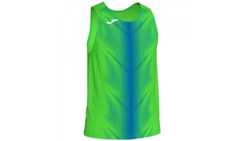 OLIMPIA T-SHIRT FLUOR GREEN-ROYAL SLEEVELESS