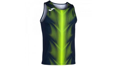OLIMPIA T-SHIRT DARK NAVY-FLUOR YELLOW SLEEVELESS