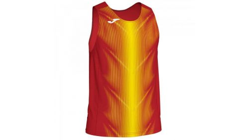 OLIMPIA T-SHIRT RED-YELLOW SLEEVELESS