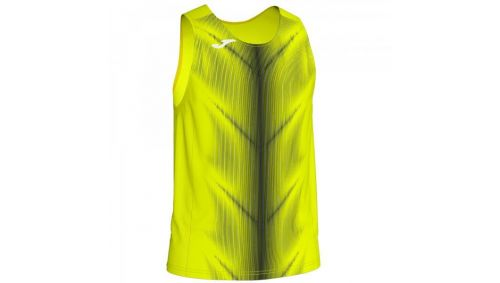 OLIMPIA T-SHIRT FLUOR YELLOW-BLACK SLEEVELESS
