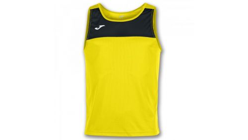 TRICOU RACE YELLOW-BLACK SLEEVELESS
