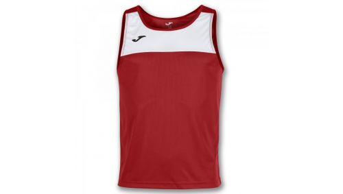 TRICOU RACE RED-WHITE SLEEVELESS