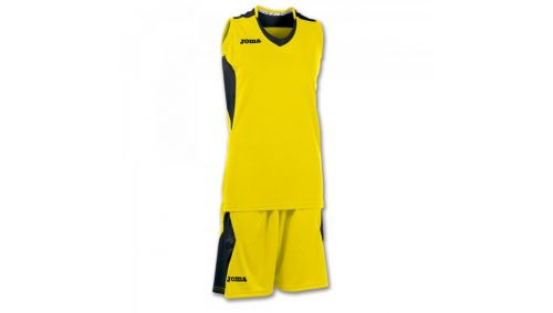 SET BASKET SPACE YELLOW-BLACK SLEEVELESS W.
