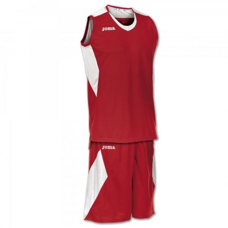 SET SPACE RED-WHITE SLEEVELESS