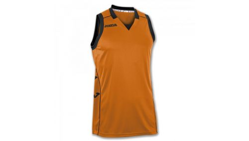 TRICOU CANCHA II ORANGE-BLACK SLEEVELESS