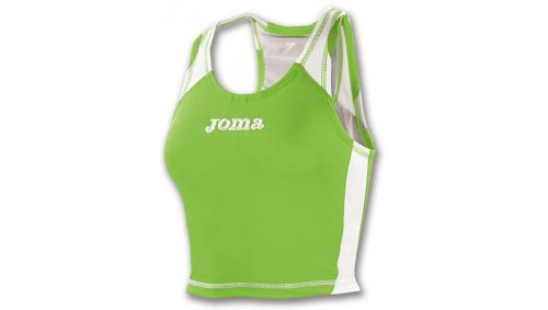 TRICOU SLEEVELESS RECORD WOMAN GREEN FLUOR