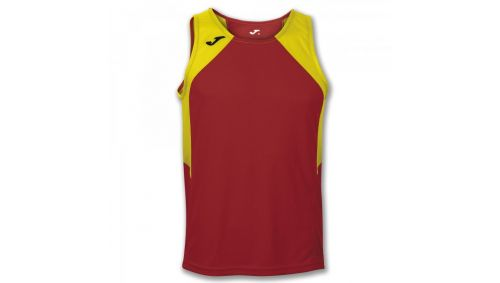 TRICOU RECORD RED-YELLOW SLEEVELESS