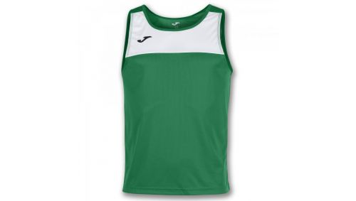 TRICOU RACE GREEN-WHITE SLEEVELESS