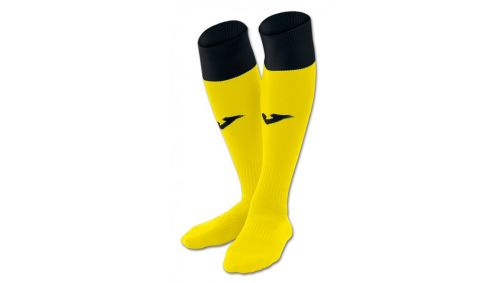 FOOTBALL SOCKS CALCIO 24 YELLOW-BLACK -PACK 4-